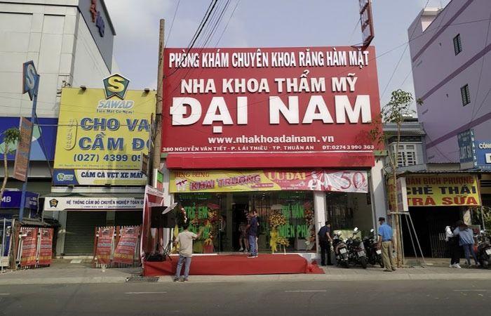 nha khoa đại nam tại 380 Nguyễn Văn Tiết lái thiêu thuận an bình dương