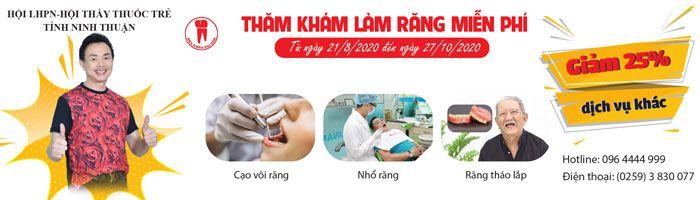 Thăm khám, làm răng miễn phí tại Ninh Thuận