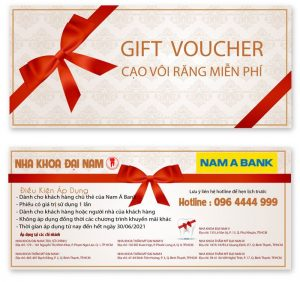 Voucher cạo vôi răng miễn phí dành cho khách hàng Nam Á Bank