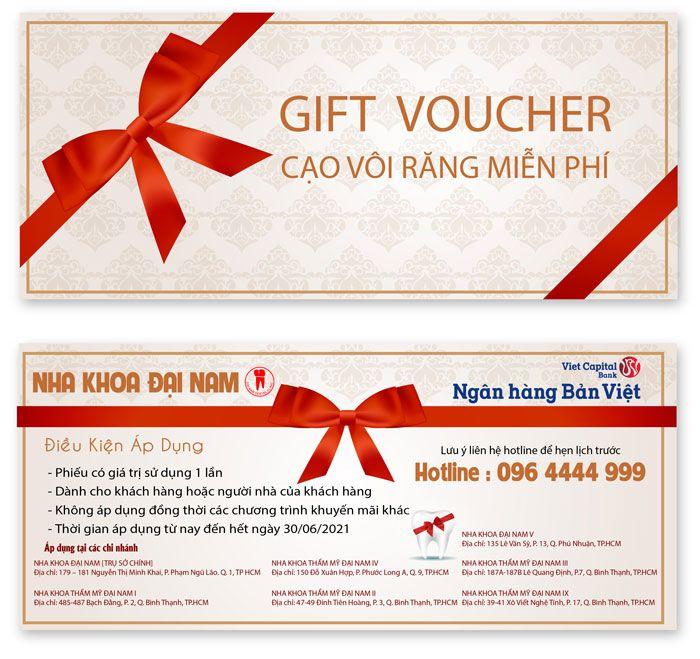 Voucher cạo vôi răng miễn phí dành cho khách hàng Bản Việt