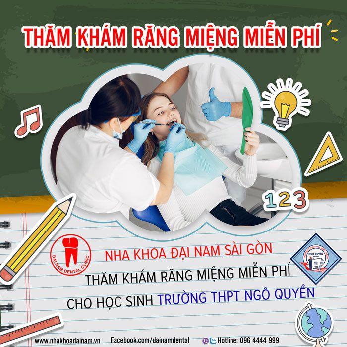 Thăm khám răng miệng miễn phí cho học sinh trường THPT Ngô Quyền