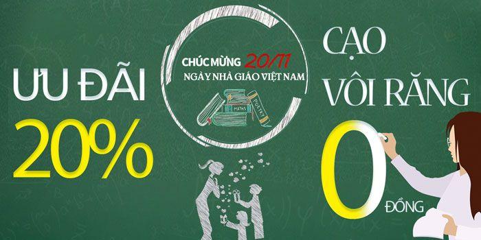 Tưng bừng ưu đãi mừng ngày Nhà Giáo Việt Nam