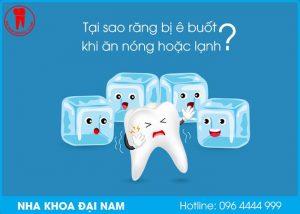 tại sao răng bị ê buốt khi ăn nóng hoặc lạnh